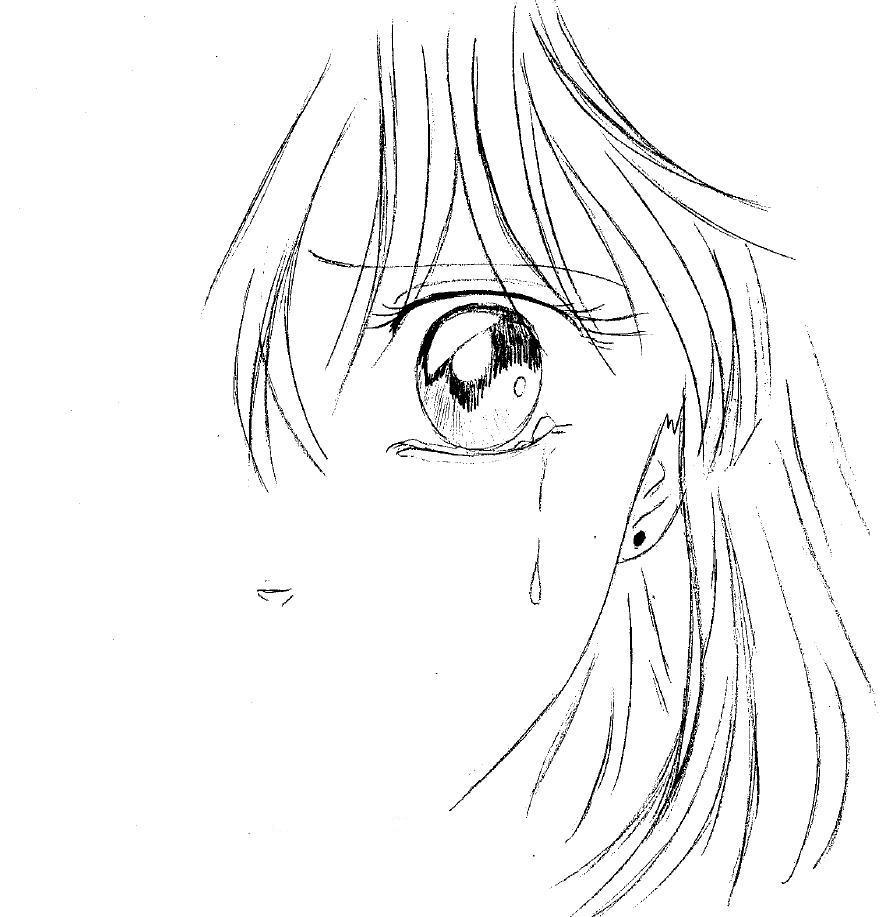 Dessin fille triste - Dessin triste ...