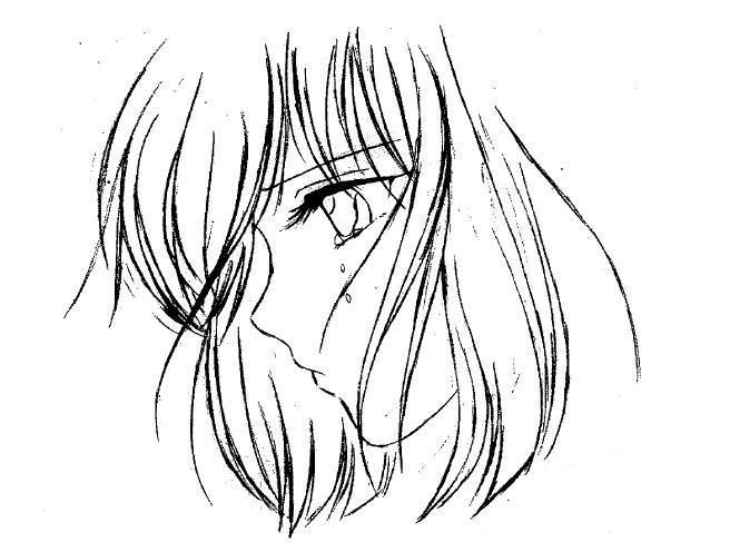 femme triste dessin